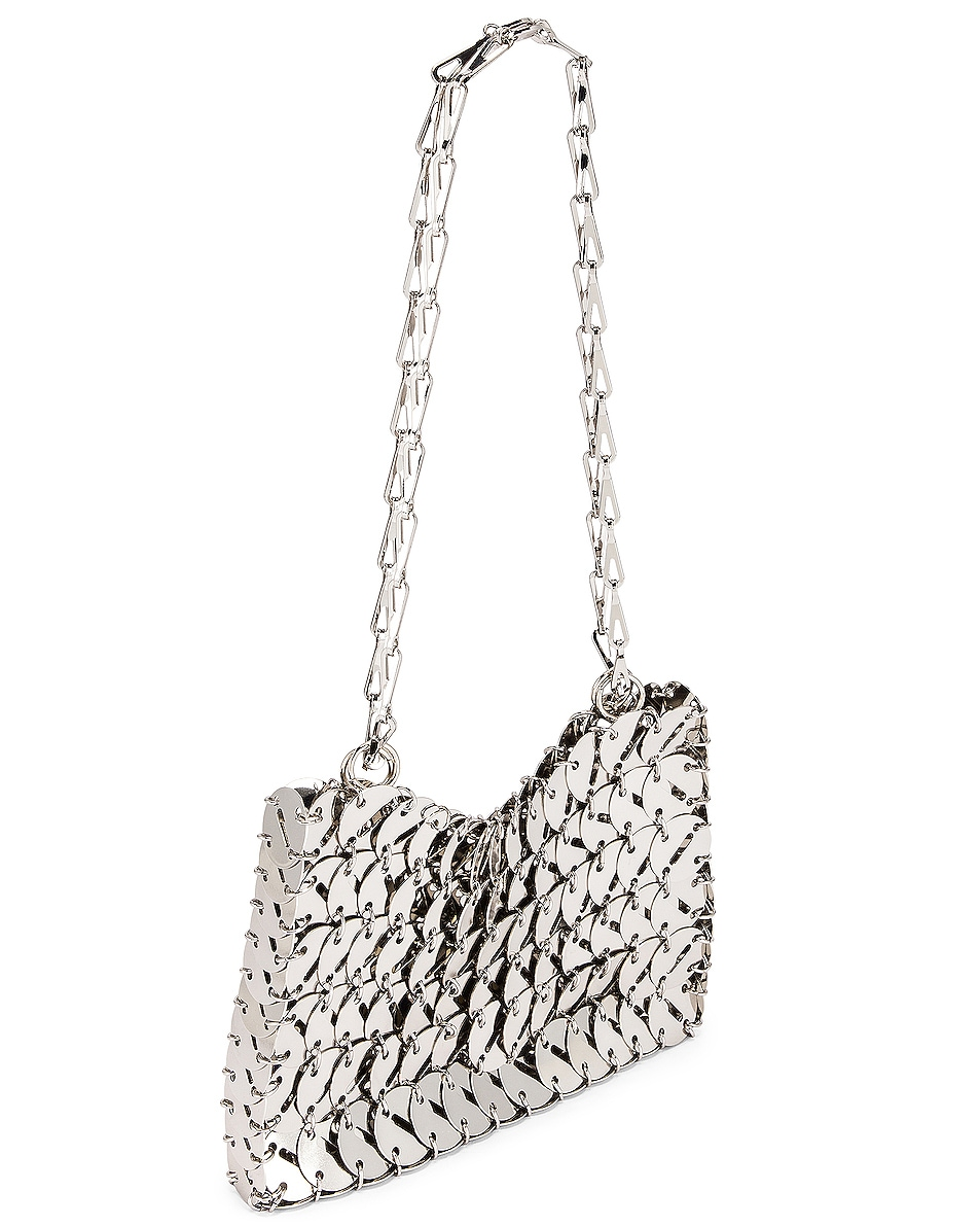 Image 4 of PACO RABANNE Perforated Disc 1969 Bag in Silver