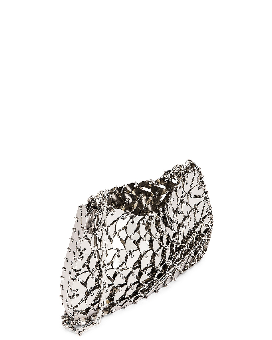Image 5 of PACO RABANNE Perforated Disc 1969 Bag in Silver