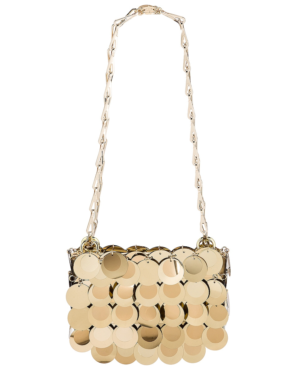 Image 1 of PACO RABANNE Sparkle Nano 69 Bag in Light Gold