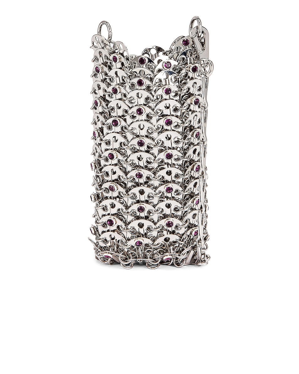 Image 1 of PACO RABANNE Mini 69 Bag in Silver
