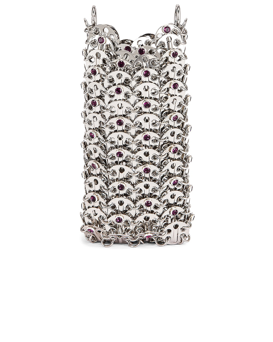 Image 3 of PACO RABANNE Mini 69 Bag in Silver