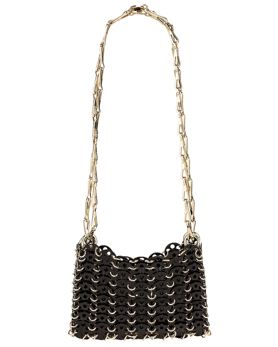 Image 1 of PACO RABANNE Sac Porte Epaul Shoulder Bag in Light Gold & Black