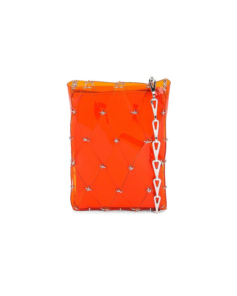 Image 1 of PACO RABANNE Sac Porte Epaul Diamond Crossbody Bag in Orange