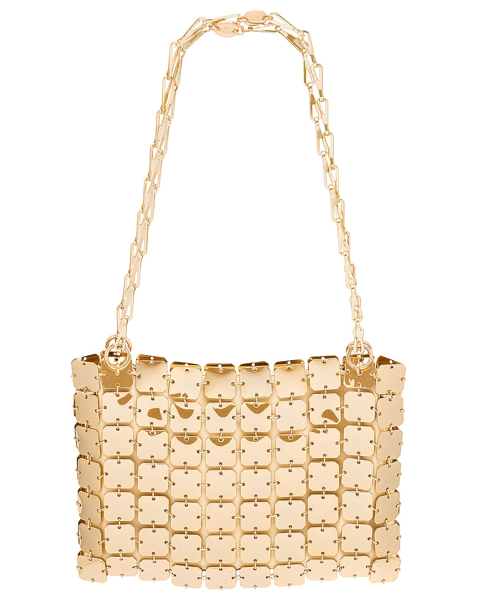 Image 1 of PACO RABANNE Iconic Square 1969 Bag in Light Gold