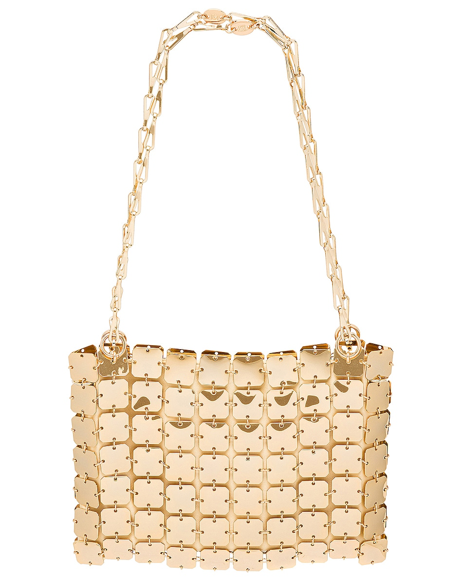 Image 3 of PACO RABANNE Iconic Square 1969 Bag in Light Gold