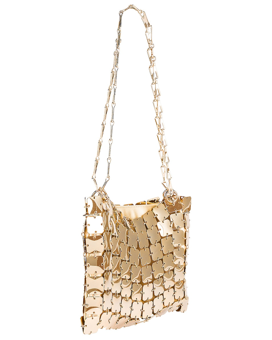 Image 4 of PACO RABANNE Iconic Square 1969 Bag in Light Gold