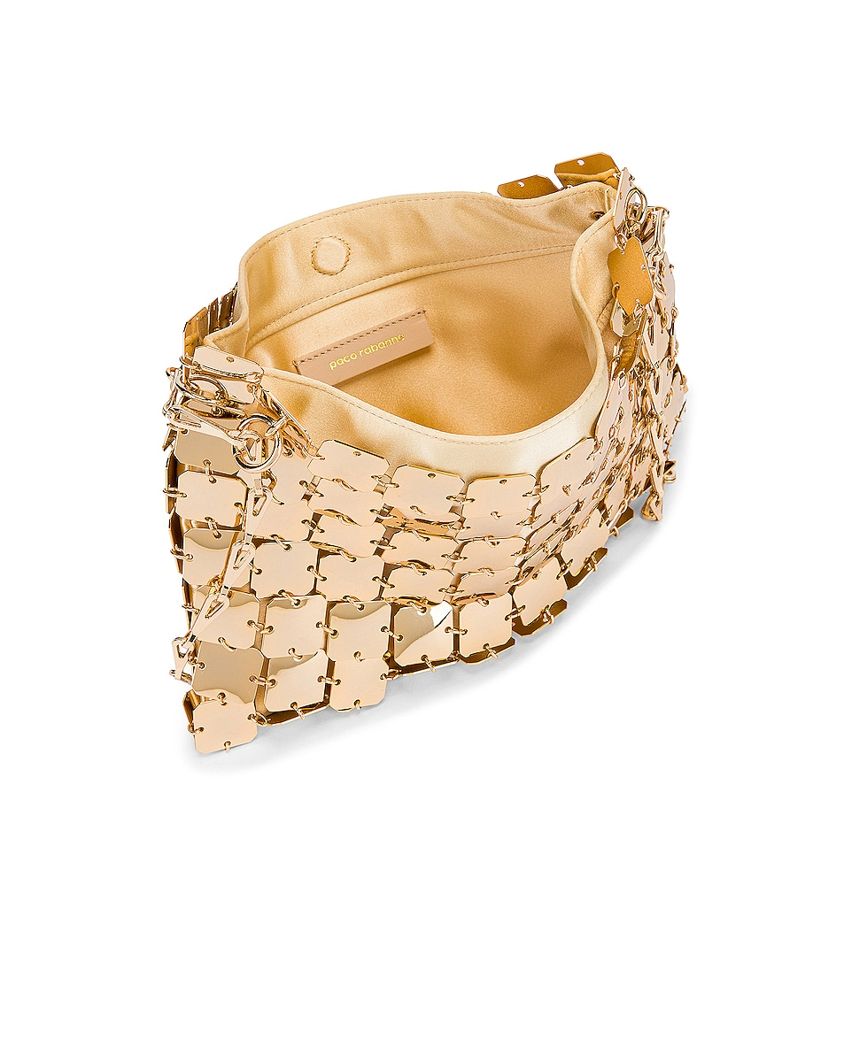 Image 5 of PACO RABANNE Iconic Square 1969 Bag in Light Gold