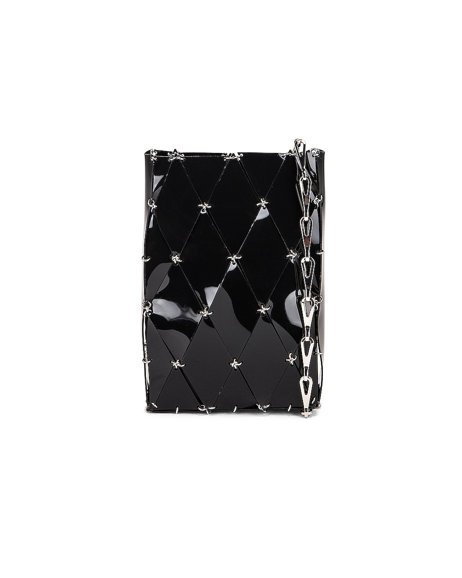 Image 1 of PACO RABANNE Sac Porte Epaul Diamond Crossbody Bag in Black