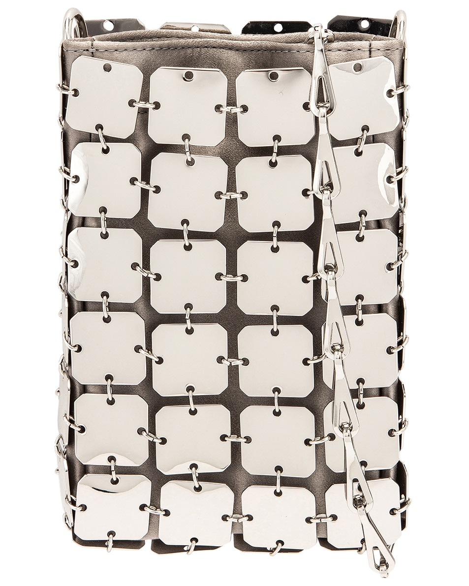 Image 1 of PACO RABANNE Iconic Mini Square 1969 Bag in Silver