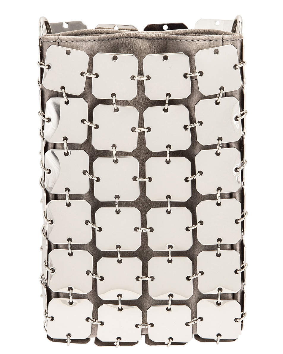 Image 3 of PACO RABANNE Iconic Mini Square 1969 Bag in Silver