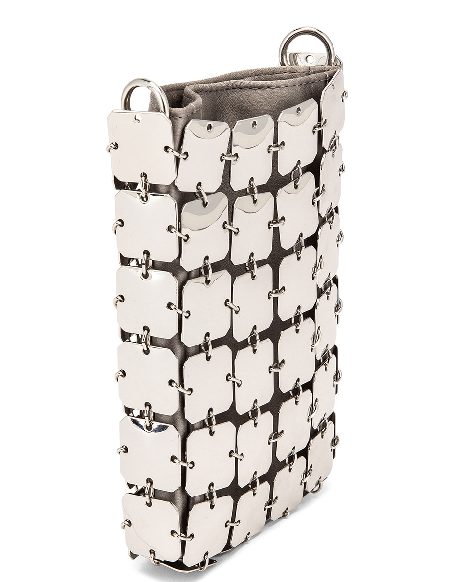 Image 4 of PACO RABANNE Iconic Mini Square 1969 Bag in Silver