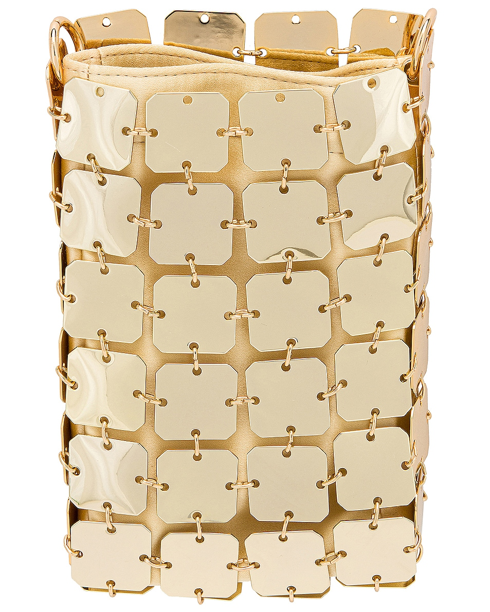 Image 3 of PACO RABANNE Iconic Mini Square 1969 Bag in Light Gold