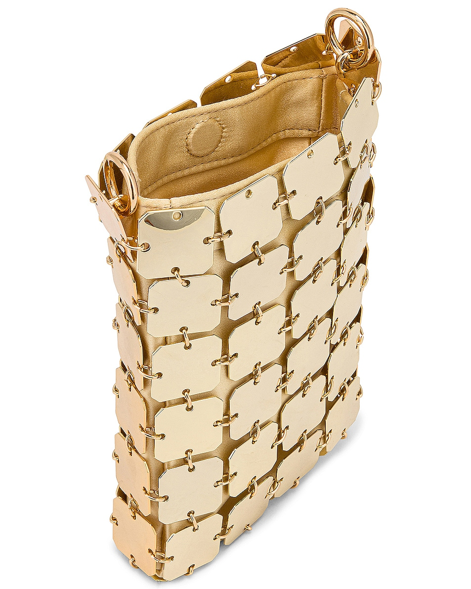 Image 5 of PACO RABANNE Iconic Mini Square 1969 Bag in Light Gold