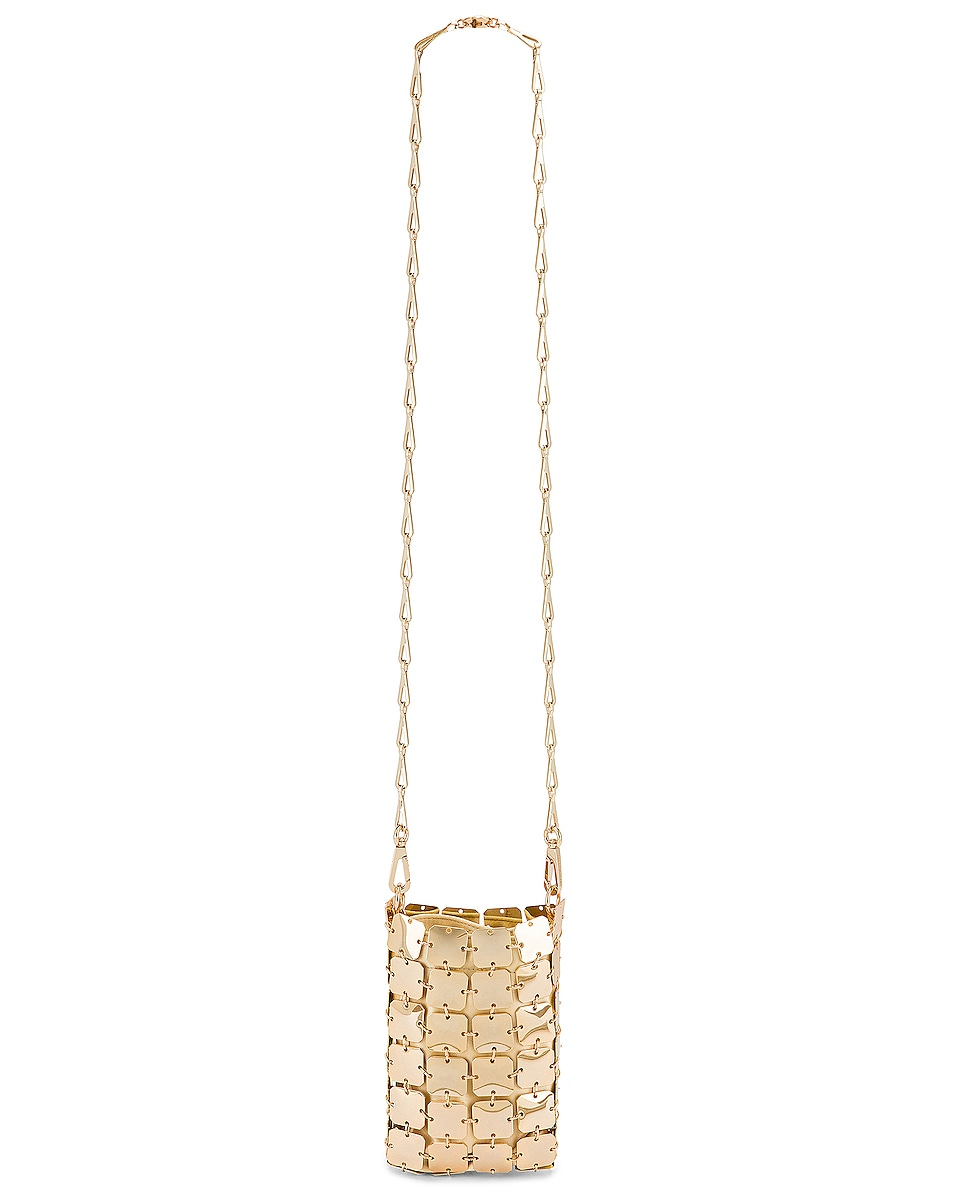 Image 6 of PACO RABANNE Iconic Mini Square 1969 Bag in Light Gold