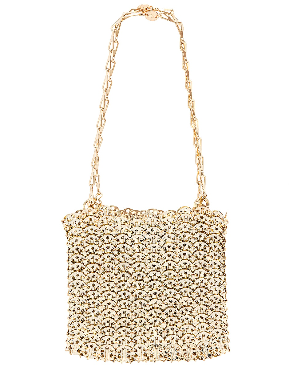Image 3 of PACO RABANNE Iconic 1969 Bag in Light Gold