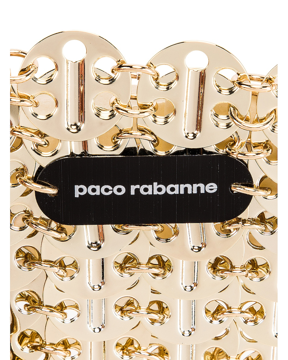 Image 6 of PACO RABANNE Iconic 1969 Bag in Light Gold