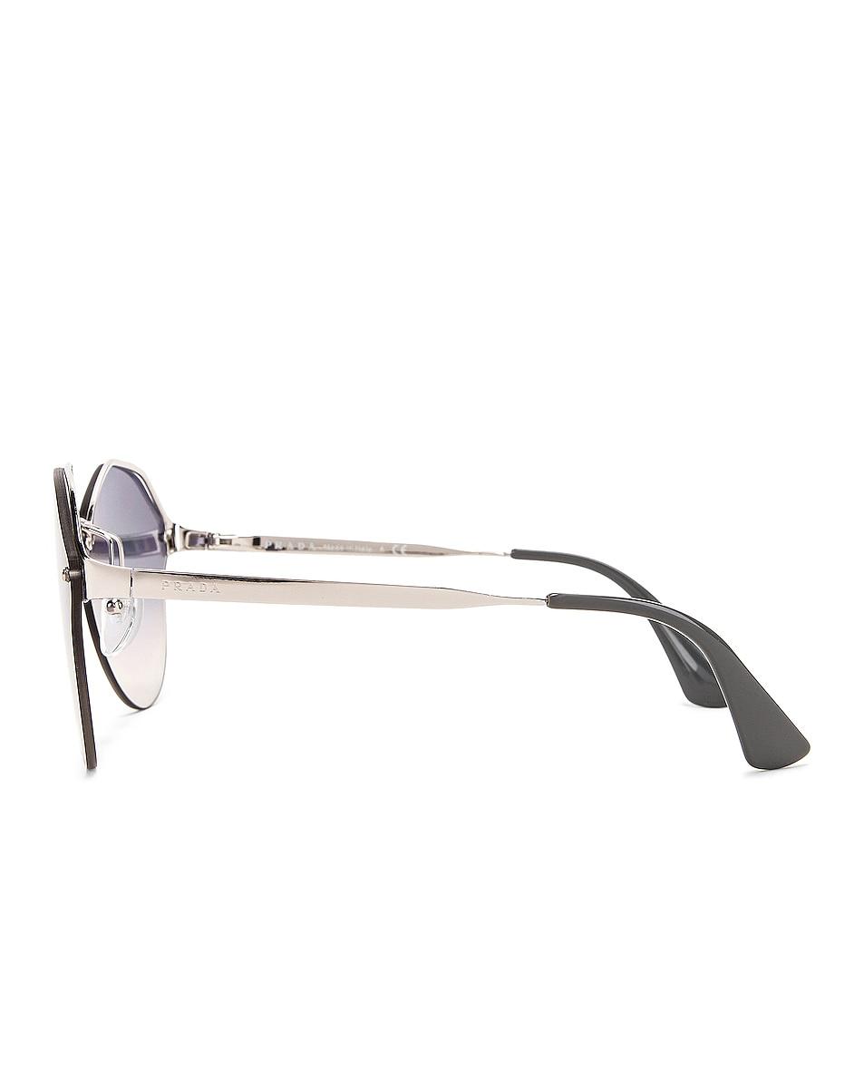 Image 3 of Prada Mirrored Round Sunglasses in Grey
