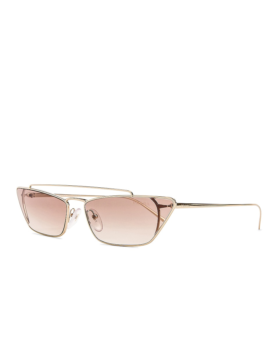 Image 2 of Prada Rectangular Cat Eye Sunglasses in Brown
