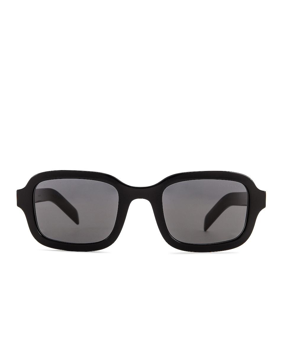 Image 1 of Prada Contemporary Square Sunglasses in Black