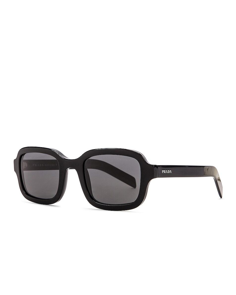 Image 2 of Prada Contemporary Square Sunglasses in Black