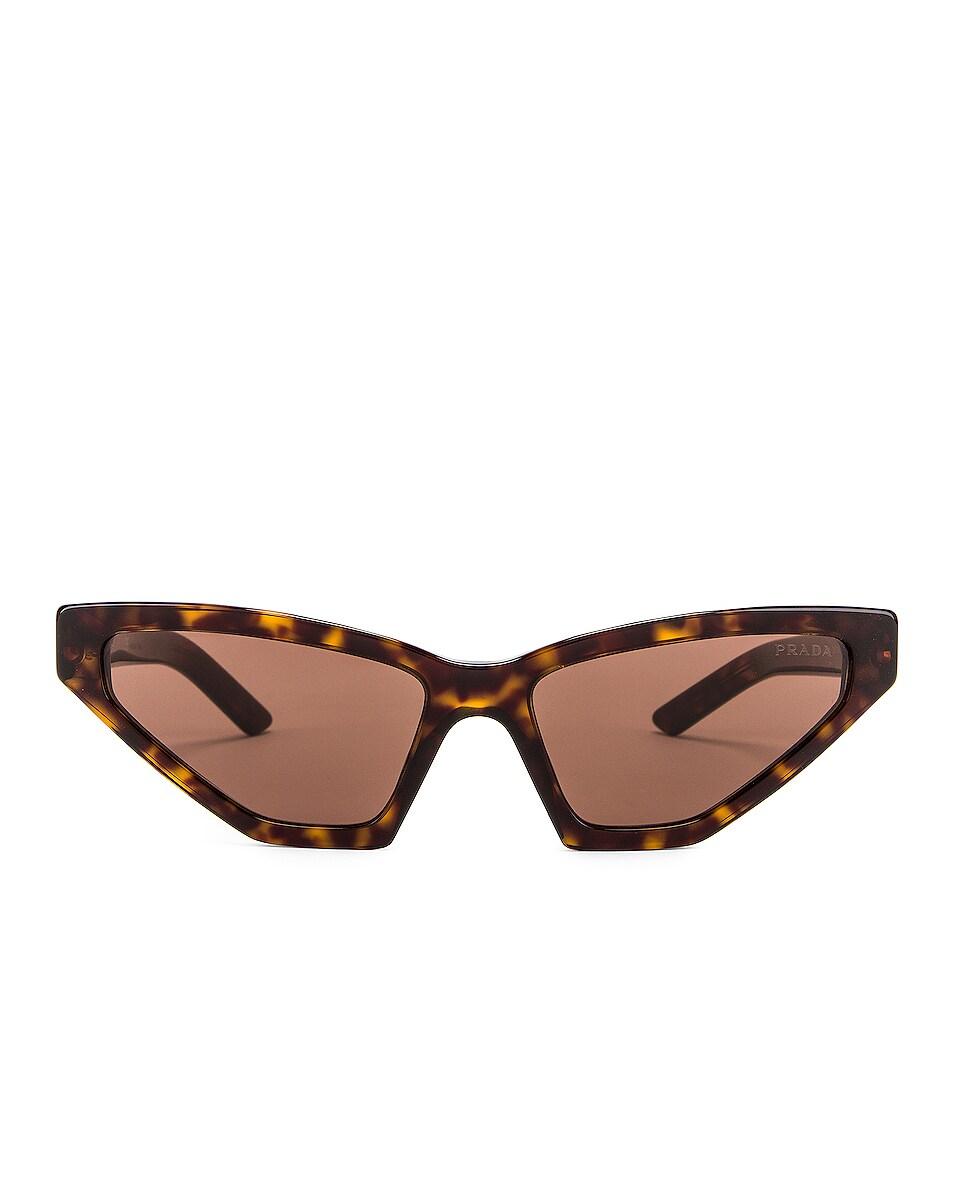 Image 1 of Prada Skinny Sunglasses in Havana