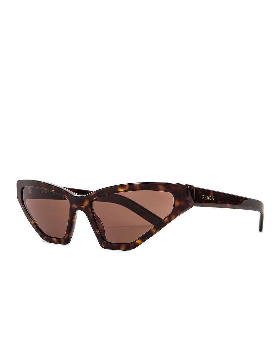 Image 2 of Prada Skinny Sunglasses in Havana