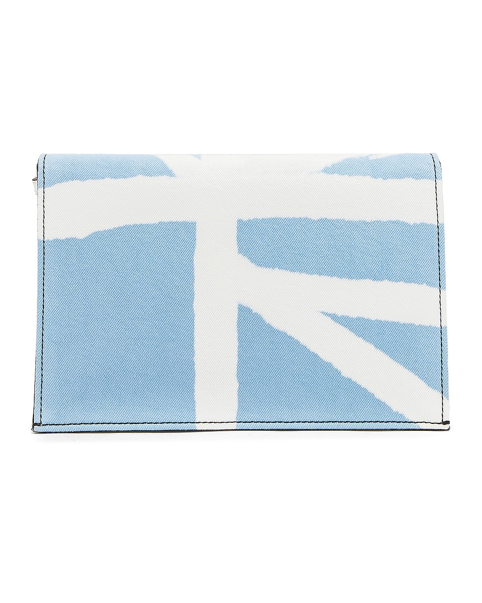 Image 3 of Proenza Schouler Denim Tie Dye Small Lunch Bag in Baby Blue & Lilac
