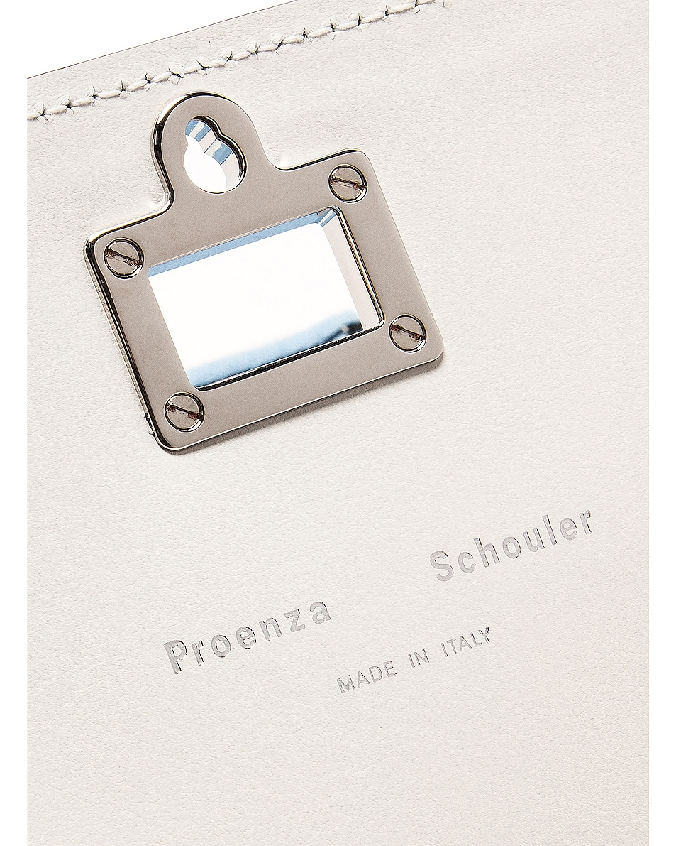 Image 7 of Proenza Schouler Denim Tie Dye Small Lunch Bag in Baby Blue & Lilac