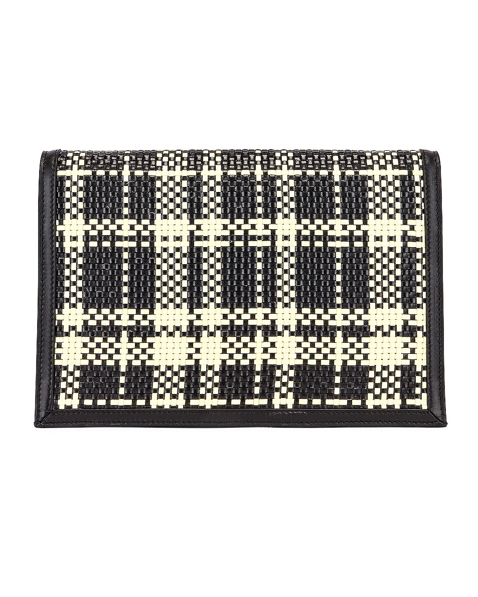Image 3 of Proenza Schouler Plaid Lunch Bag in Black & Butter Toast
