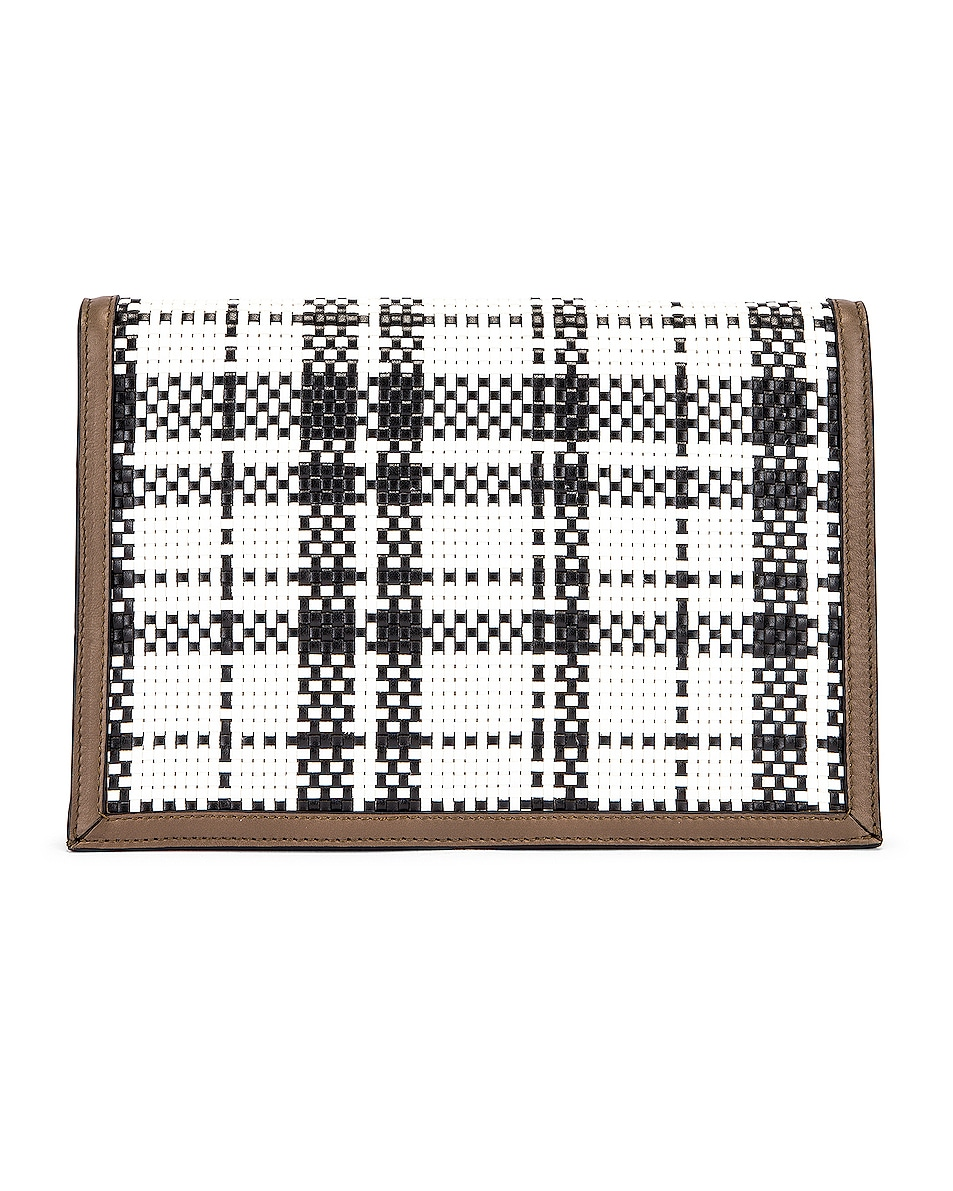 Image 3 of Proenza Schouler Plaid Lunch Bag in Optic White & Black