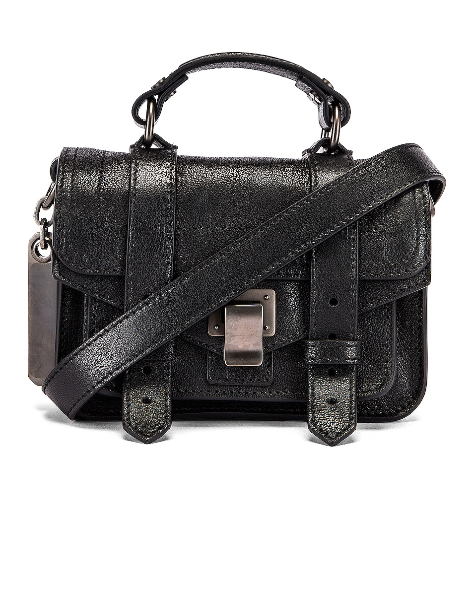 Image 1 of Proenza Schouler Micro PS1 Leather Bag in Black