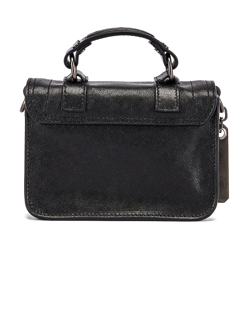 Image 3 of Proenza Schouler Micro PS1 Leather Bag in Black