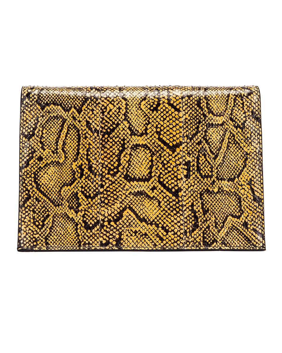 Image 3 of Proenza Schouler Lunch Bag in Black & Saffron