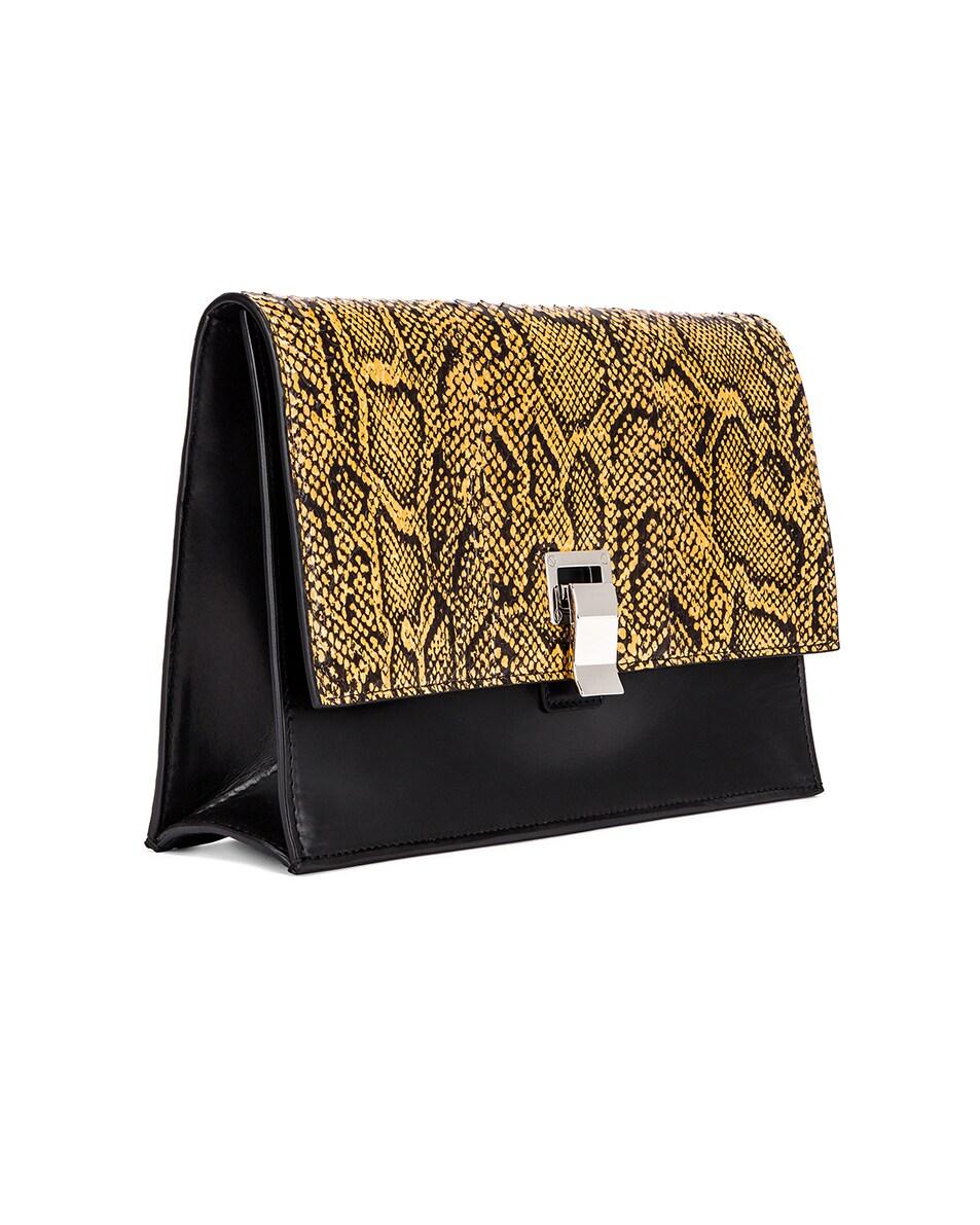 Image 4 of Proenza Schouler Lunch Bag in Black & Saffron