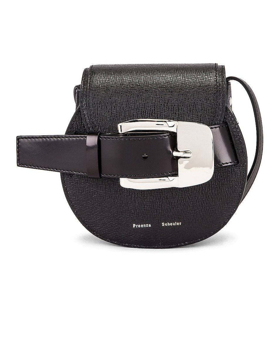 Image 1 of Proenza Schouler Mini Leather Buckle Crossbody Bag in Black