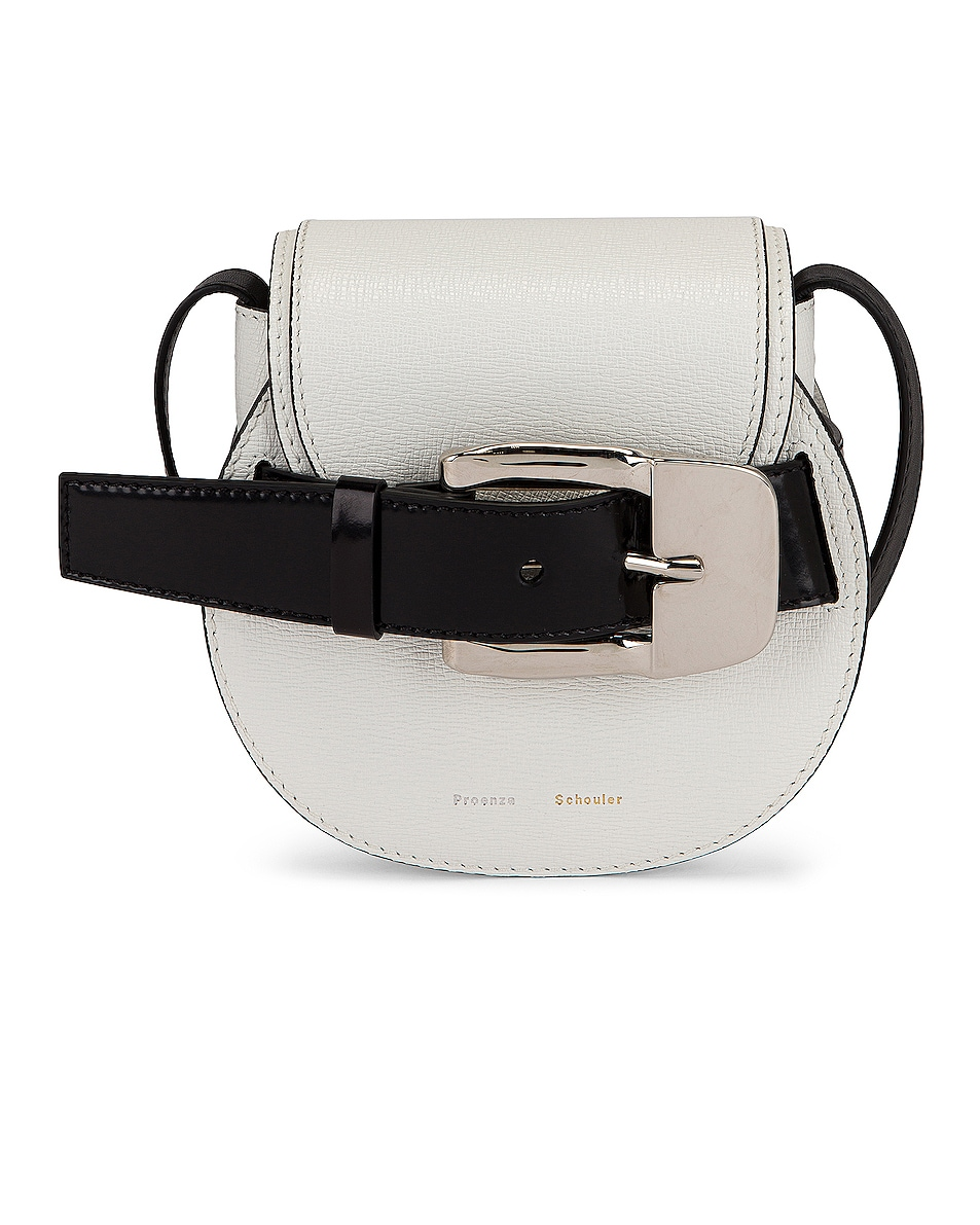 Image 1 of Proenza Schouler Mini Leather Buckle Crossbody Bag in Optical White