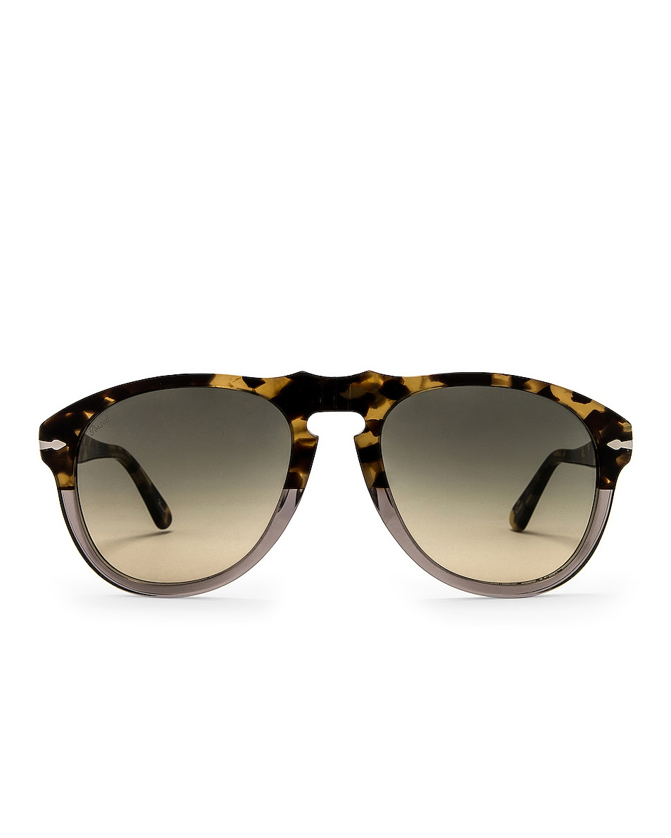 Image 1 of Persol PO0649 Sunglasses in Brown Tortoise & Clear Gradient