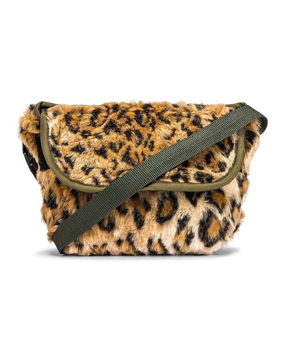 Image 1 of R13 Mini Messenger Bag in Leopard