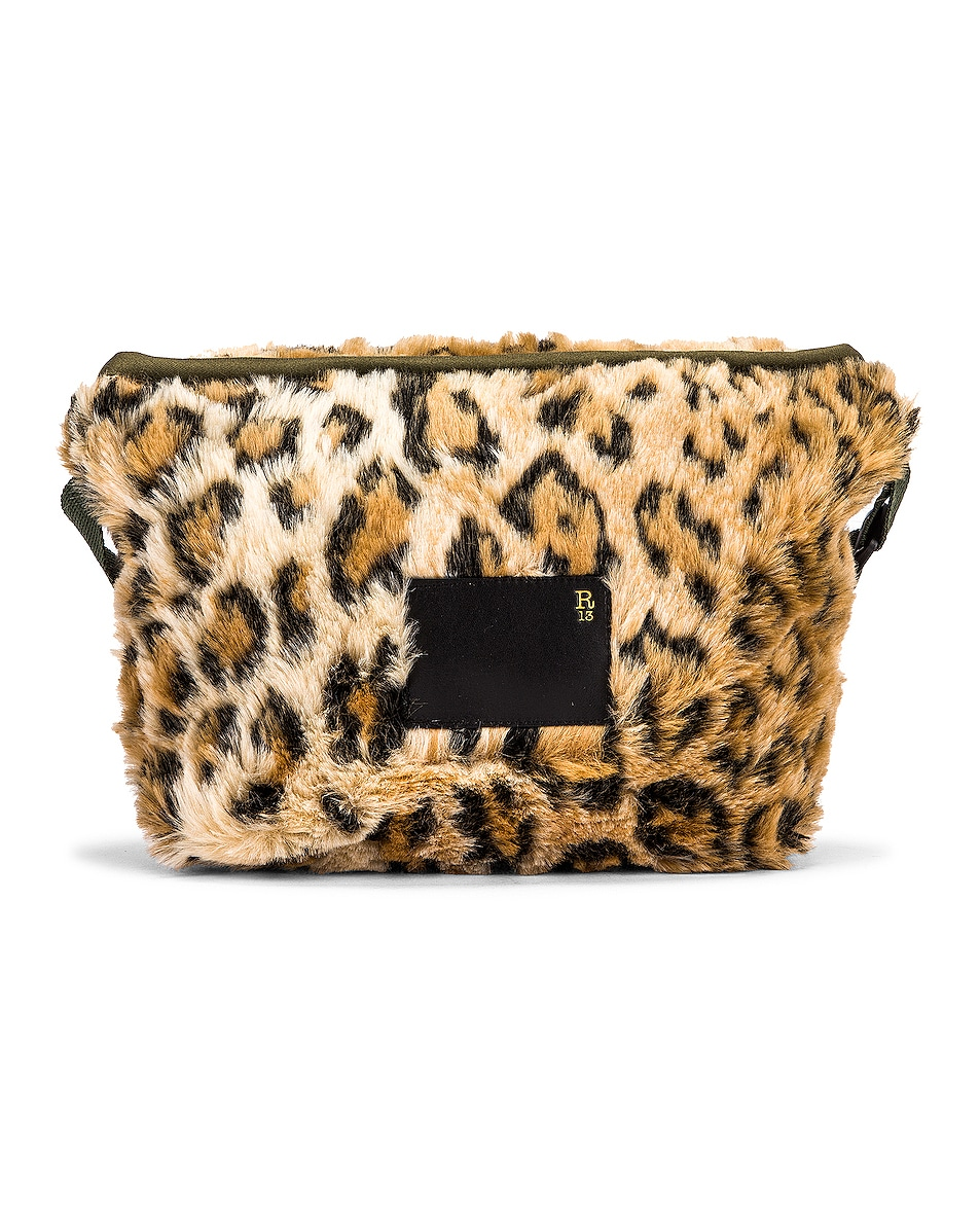 Image 3 of R13 Mini Messenger Bag in Leopard