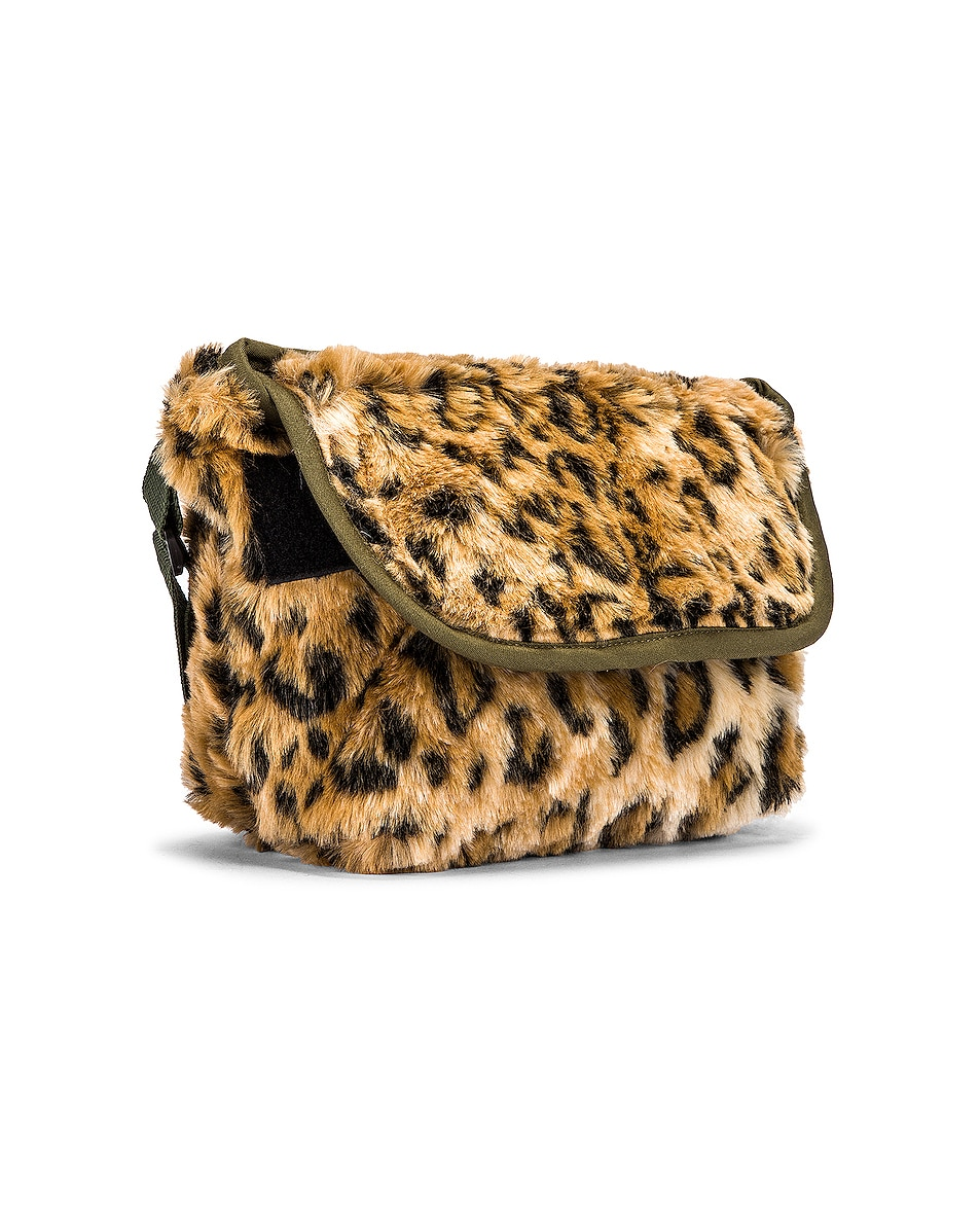 Image 4 of R13 Mini Messenger Bag in Leopard