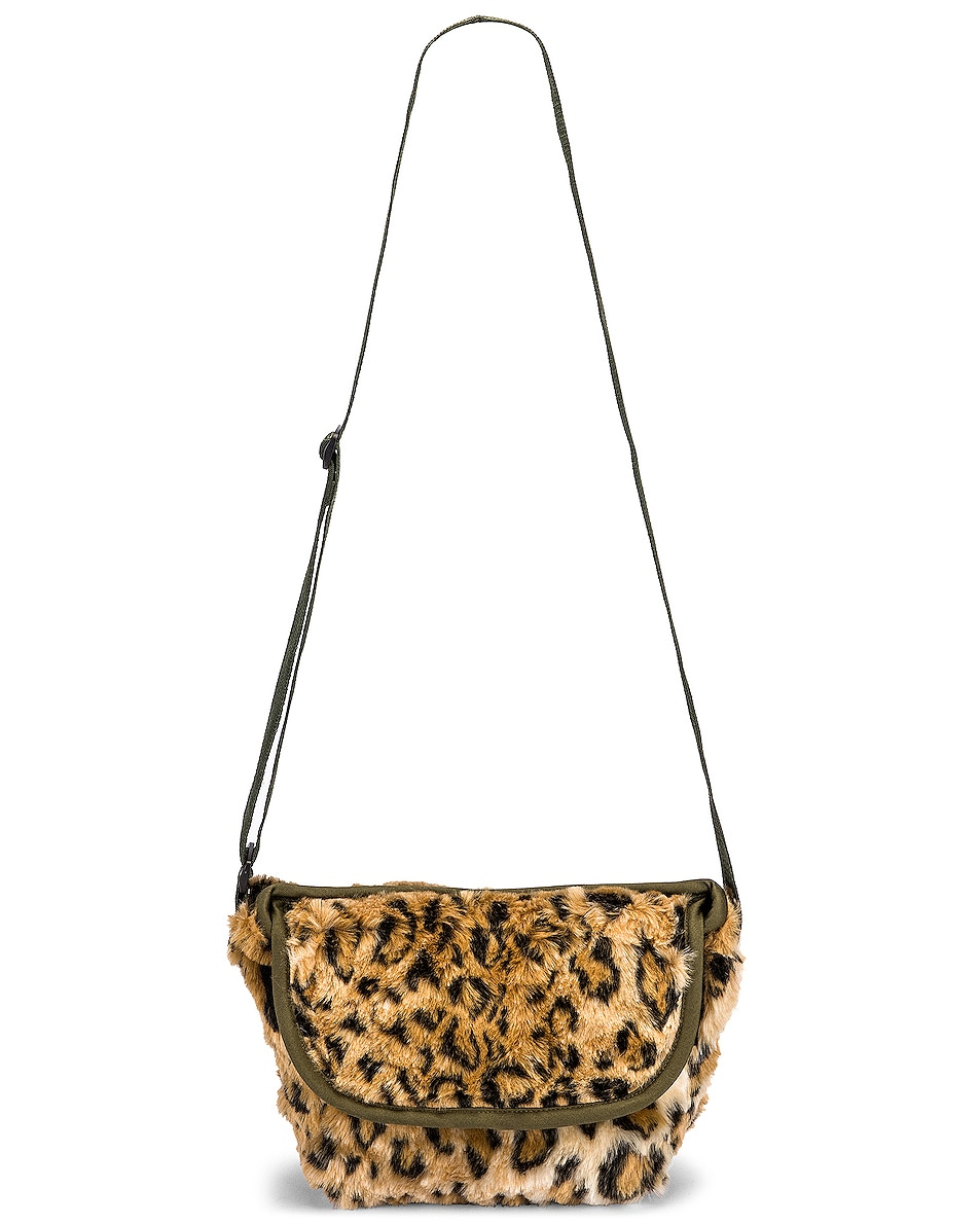 Image 6 of R13 Mini Messenger Bag in Leopard