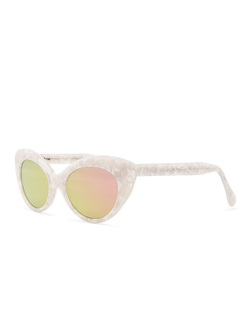 Image 2 of Roberi and Fraud Agnes Sunglasses in White