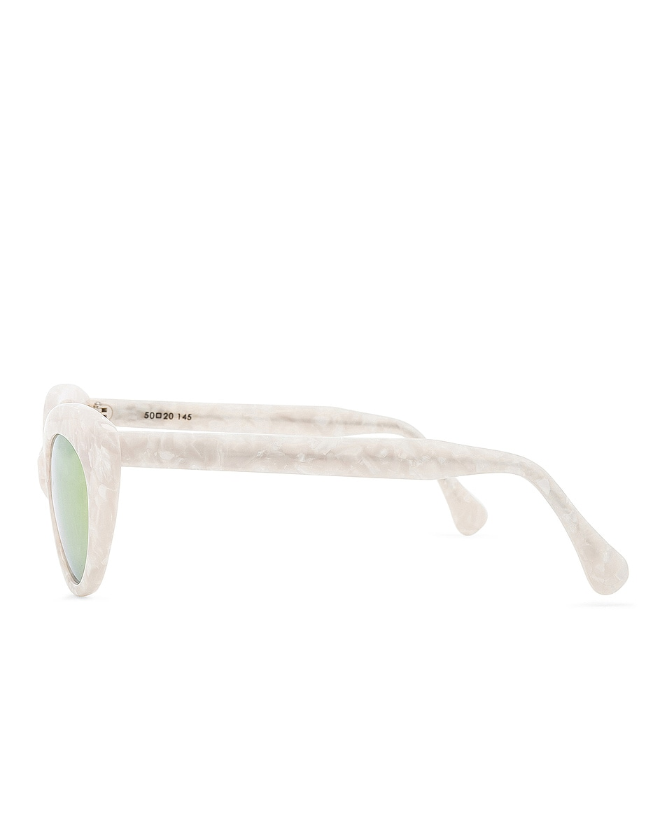 Image 3 of Roberi and Fraud Agnes Sunglasses in White