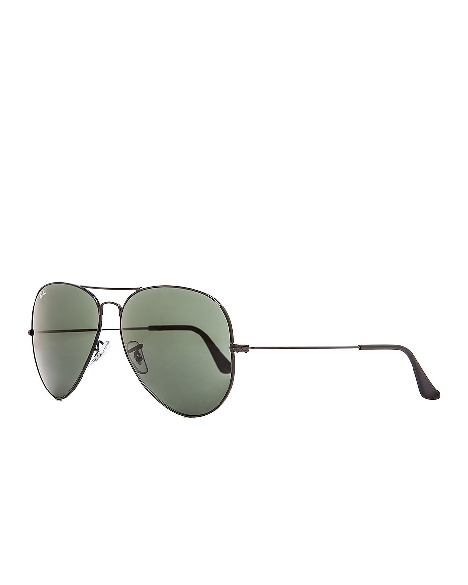Image 2 of Ray-Ban Aviator Large Metal II Sunglasses in Black