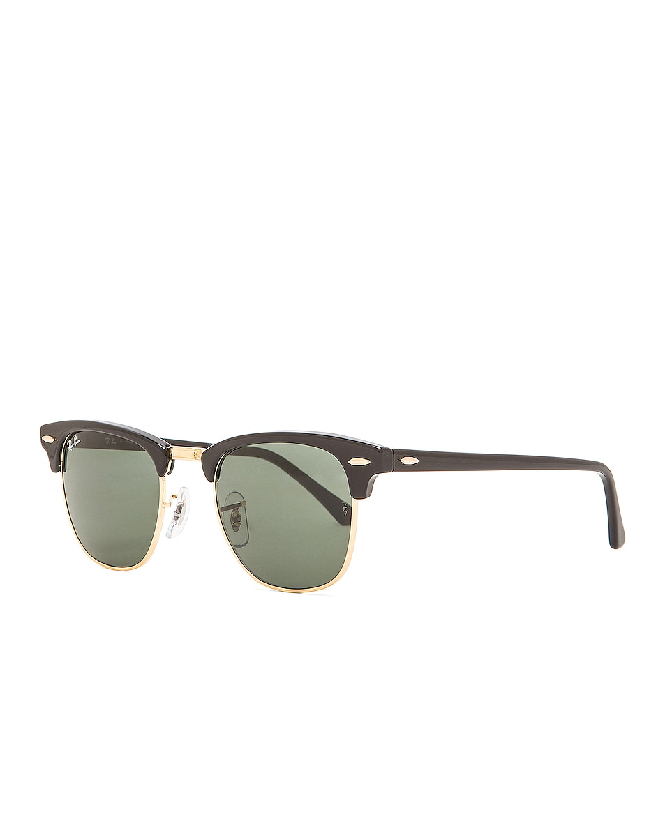 Image 2 of Ray-Ban Clubmaster Classic Sunglasses in Black