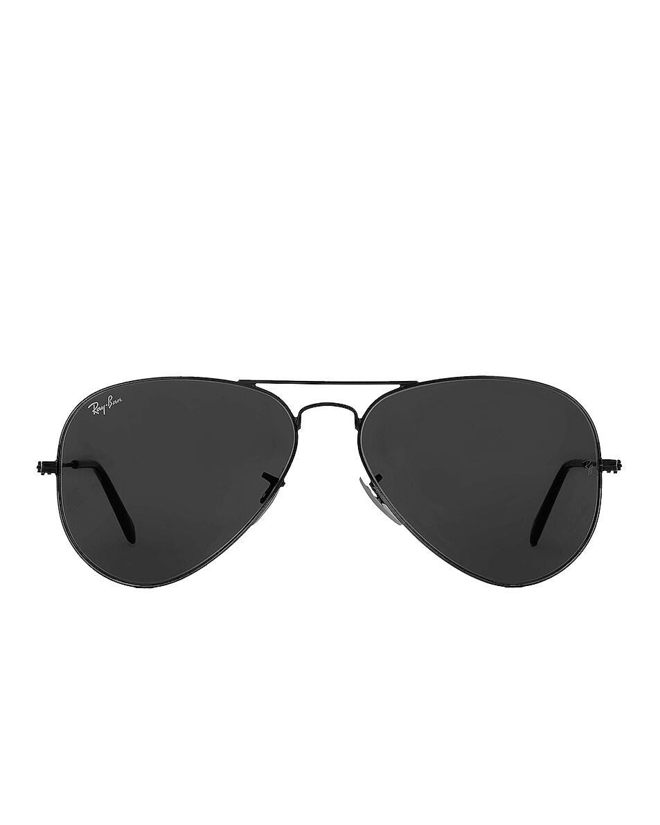 Image 1 of Ray-Ban Aviator Classic Sunglasses in Black