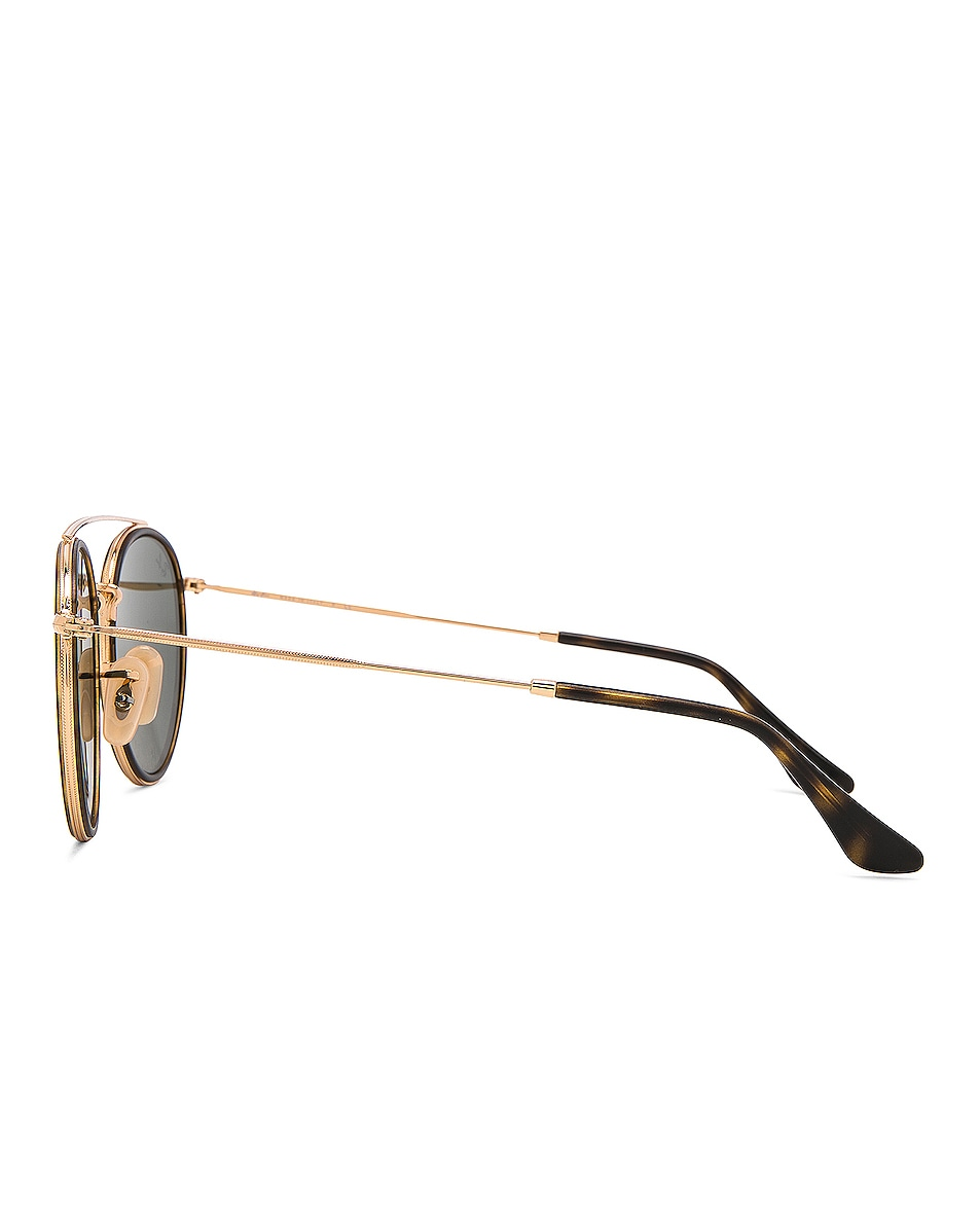 Image 3 of Ray-Ban Double Bridge Sunglasses in Gold & Green