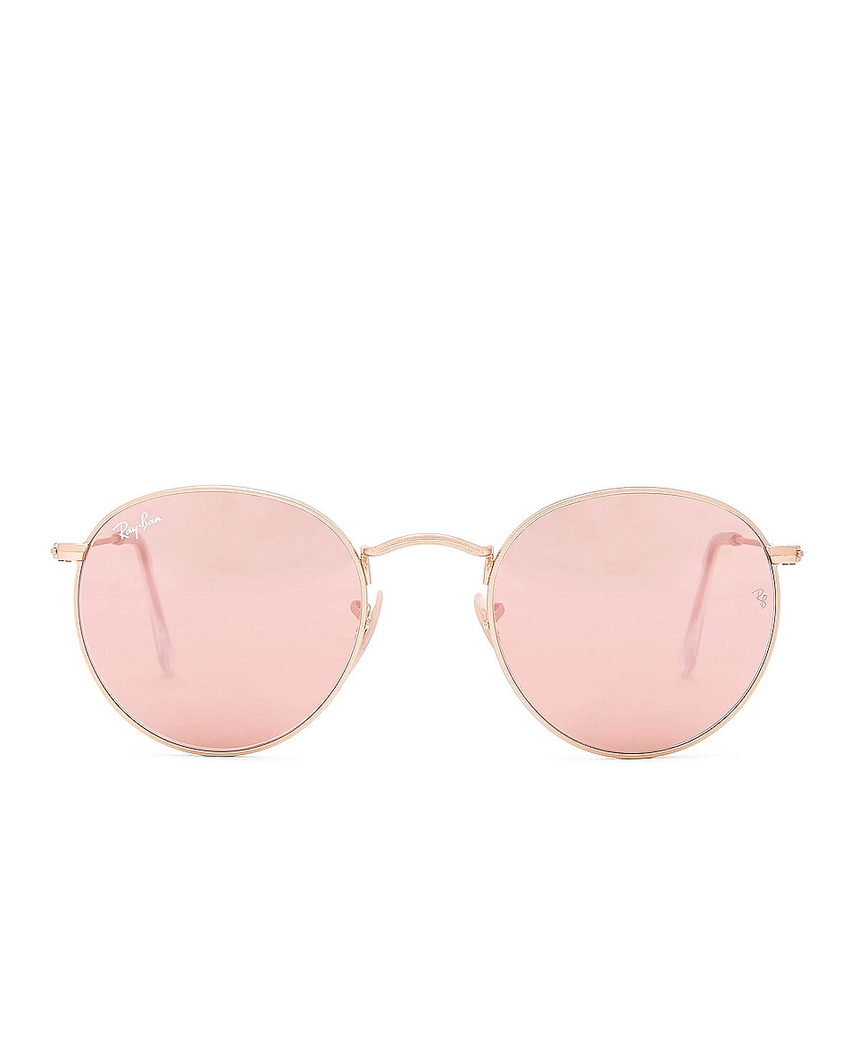 Image 1 of Ray-Ban Round Sunglasses in Matte Gold