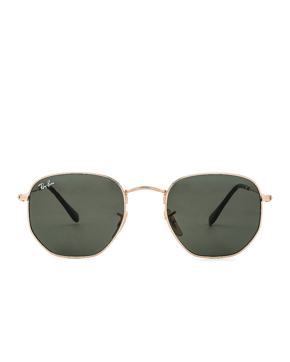 Image 1 of Ray-Ban Hexagon Sunglasses in Gold