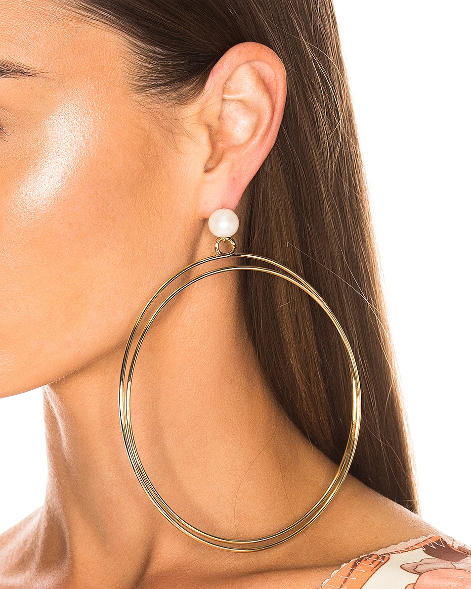Image 2 of Rachel Comey Sphere Earrings in Gold